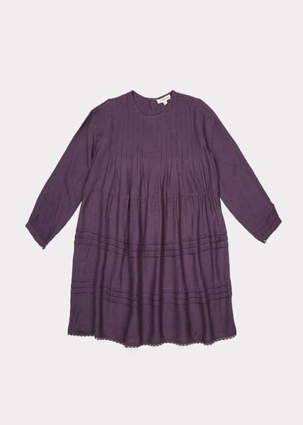 Girls Aubergine Dress