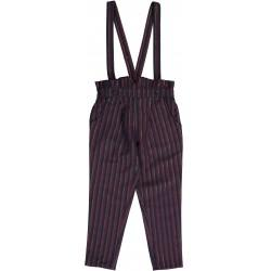 Girls Multico Big Stripes Gold Cotton Trousers