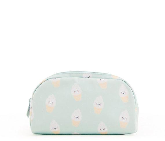 Girls Mint Green Icecream Printed Pencil Pouch(21 x 11cm)