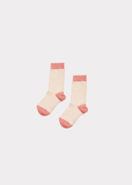 Girls Pink Spotty Knitwear Sock
