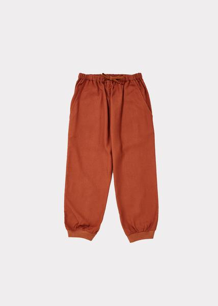 Girls Red Brown Cotton Trousers