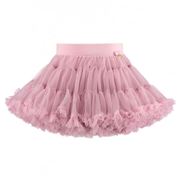 Girls Vintage Pink Nylon Knitted Skirt