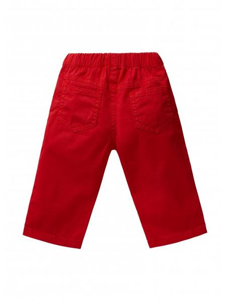 Baby Lava Red Cotton Treousers