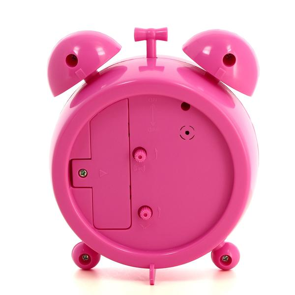 Girls Pink Flower Alarm Clock